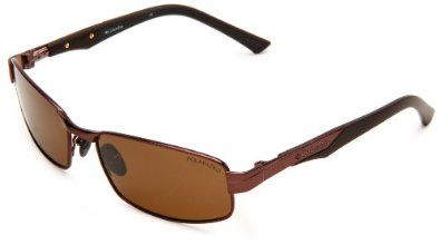 Columbia Boreas Rectangle Sunglasses,Brown Frame/Brown Lens,One Size Columbia. $99.95