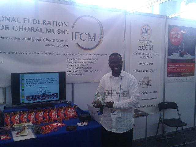 In Seoul. The Symposium and the World Choral Expo. IFCM's booth, World Youth Choir exhibit. Support and visit by WYC singers, partners and conductors. © The Foundation World Youth Choir