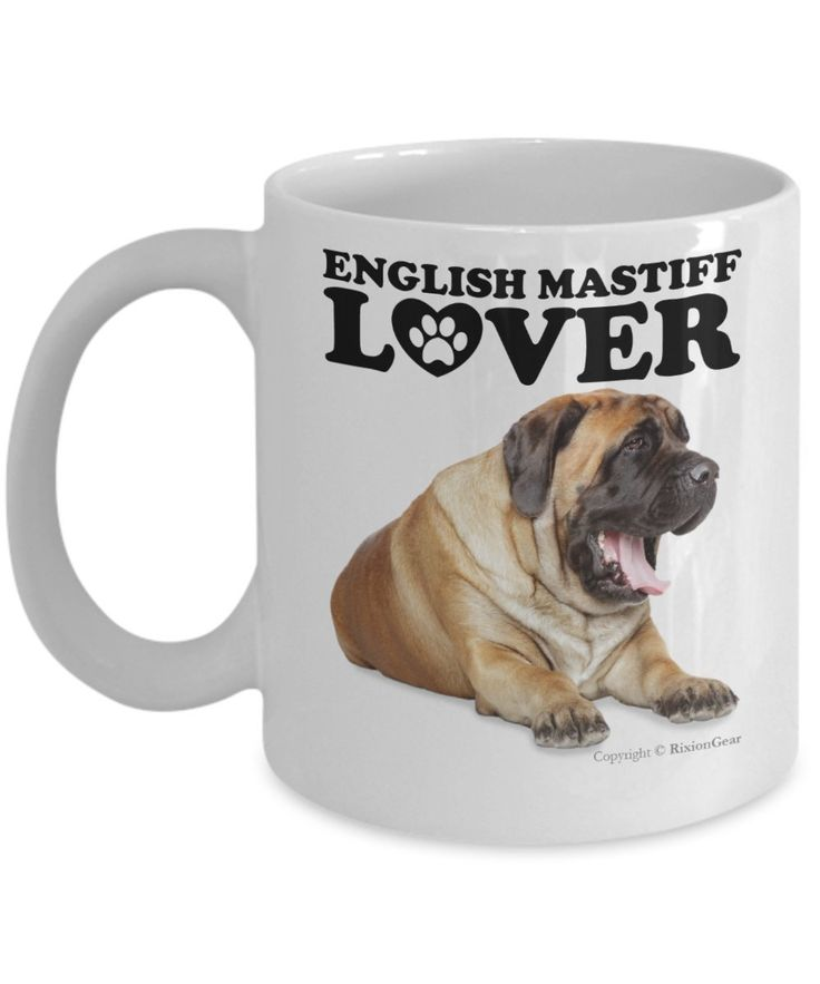 Amazon.com: English Mastiff Dog Lover Coffee Mug / Tea Cup. Makes A Fun Gift For The Pet Dog Owner, Dog Mom or Dad. The Perfect Present For Your Best Friend, Girlfriend, Boyfriend or Family.: Kitchen & Dining