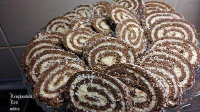 Receptek, és hasznos cikkek oldala: Kókuszos keksztekercs