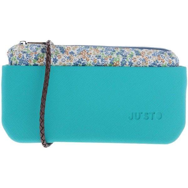 Ju'sto Cross-body Bag ($39) ❤ liked on Polyvore featuring bags, handbags, shoulder bags, light green, mini purses, blue bag, mini handbags, blue purse and hand bags