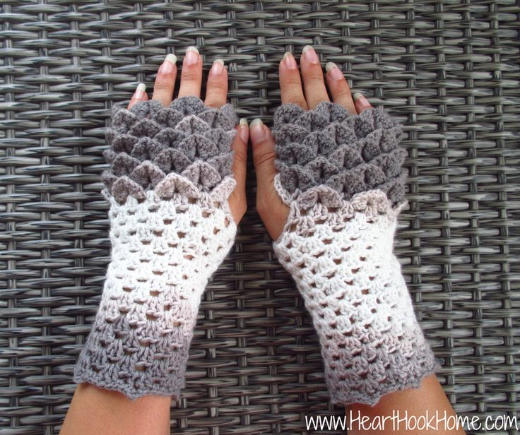 """The crocodile stitch... Perfect for mermaid tails, coin purses, slippers... and now gloves!  Two adult sizes are available for this pattern, although you could easily alterit further if you wish.  The main pattern will fitmedium/large adult wrists (7"""" or larger) and the other portion of the pattern is for smaller wrists (less than 7""""). Instructions are also given to make the pattern in child size or XL adult size.  Yarn size plays a prominent role in this pattern. You will want to use a…"""