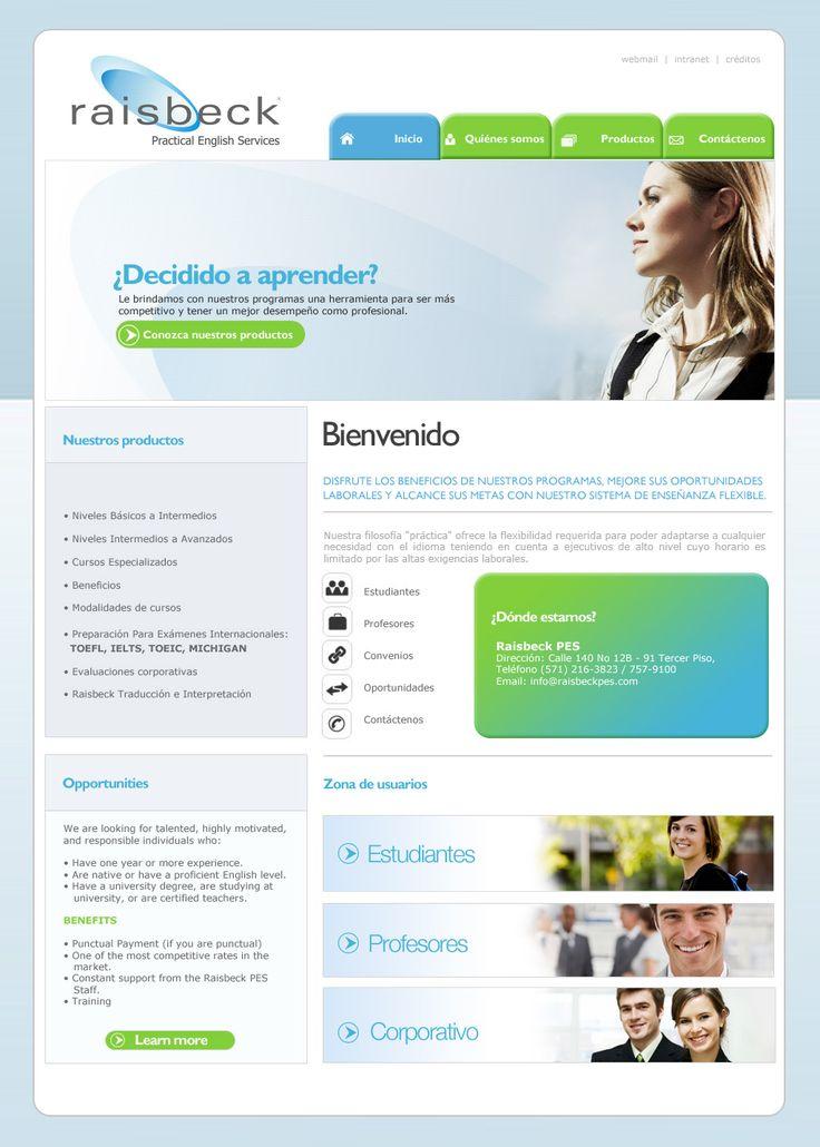 Sitio web para RAISBECK - Año ©2010