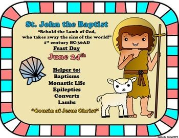 An introduction to the life of st john the baptist
