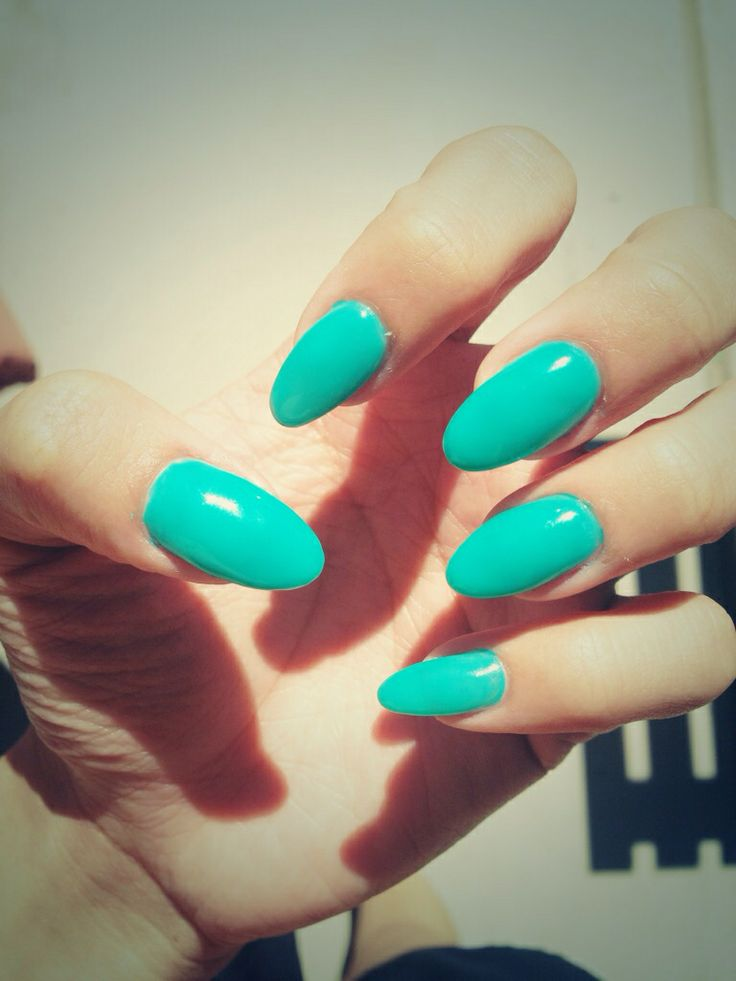 #summertime #fine #teal #nails #acrylics #stiletto