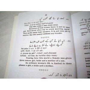 PUNJABI FOLK WISDOM by PROF.SAEED AHAMAD / English Rendering and Transliteration of Original Text   $49.99
