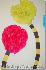DIY:  Truffula Trees (from the Lorax).  Plant A Seed!  Now the parable is this:  The seed is The Word of God. Luke 8:11