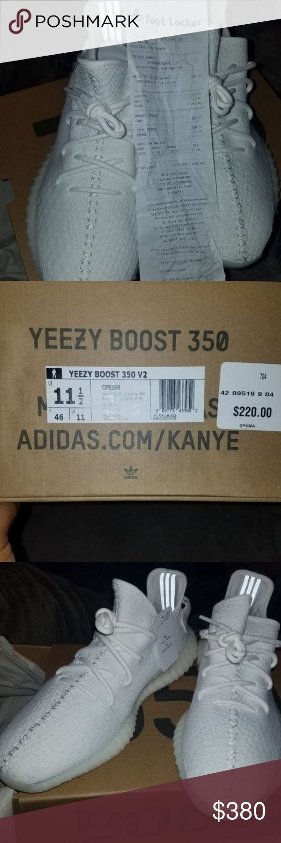 Adidas Yeezy Boost 350 V2 Cream White Brand new yeezy adidas boost 350 creme white originals size 11.5. These shoes are new and it comes with original receipt (look at pics) Tags are attached (look at pics). Contact me at (832) 449-9929 before purchase, I do NOT do transactions through this app! PRICE IS NEGOTIABLE! TEXT ME OR LEAVE YOUR # Yeezy Shoes Athletic Shoes