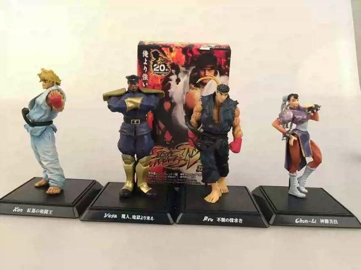 Street Fighter SF  PVC Cartoon Figure Ryu Ken Chun Li Vega 4 Game Characters Collectible Decoratio Toy