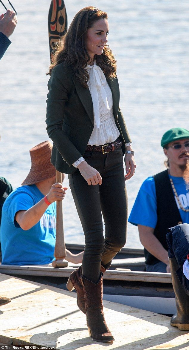Fashion site Lyst has revealed the true value of the royals' influence, with the 'Kate effect' in full swing during her Canada tour (pictured at theHaida Gwaii, British Columbiain September)