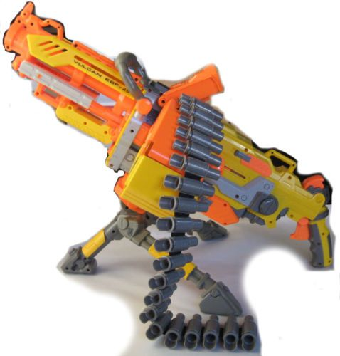 Nerf-Gun-Lot-Vulcan-EBF-25-Complete-Longshot-CS-6-Base-Scope-Motorized-N-Strike