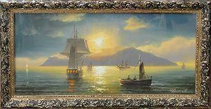 Закат - Морской пейзаж <- Картины маслом <- Картины - Каталог | Универсальный интернет-магазин подарков и сувениров