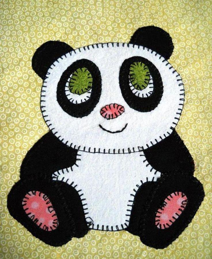 Panda Applique Quilt Block   Craftsy   Alcofinha do Bébé   Pinterest ...