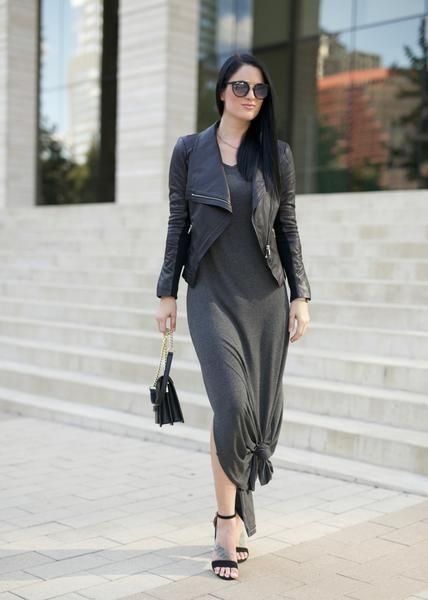 "UPF Clothing | UPF50+ ""Your Favourite Mid-Sleeve Maxi Dress"" in ""Charcoal Grey"" by SummerSkin"