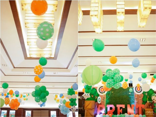 Brent's Little Archer Themed Party – Ceiling Details