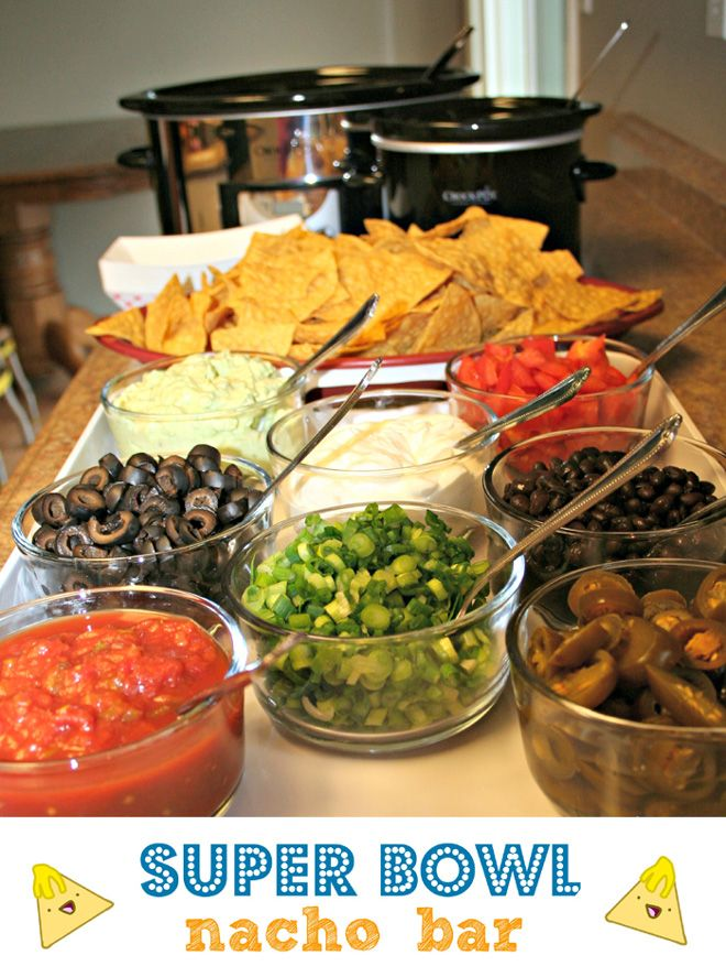 Super Bowl / Football Party Nacho Bar!!