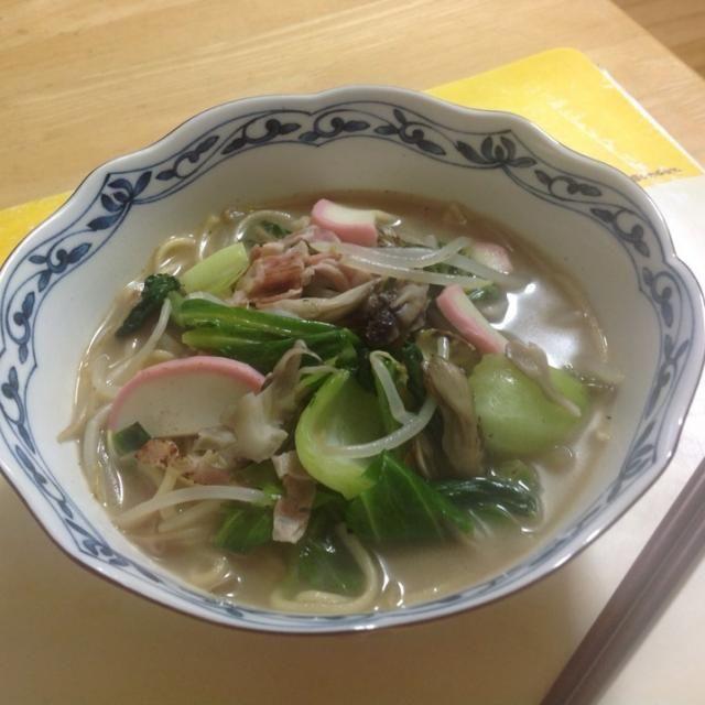 長崎旅行のお土産、麺とスープ、、具材をチョイスして美味しく。 - 9件のもぐもぐ - 長崎チャンポン 1食目 by shozuu