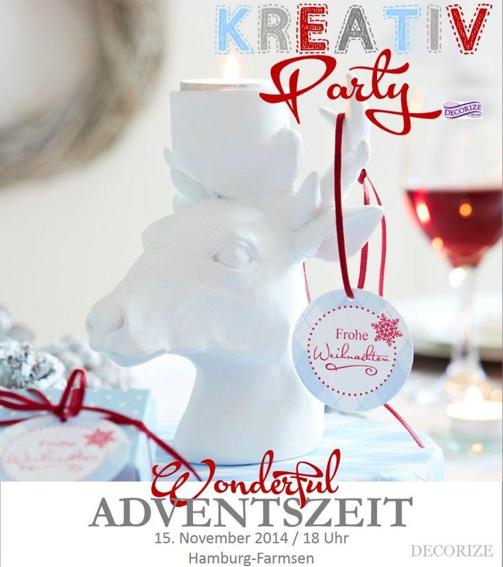 Eine neue Kreativ-Party: Wonderful Adventszeit! Gemeinsames Werkeln, Basteln, Bauen von tollen DIY-Projekten. Tickets buchbar!