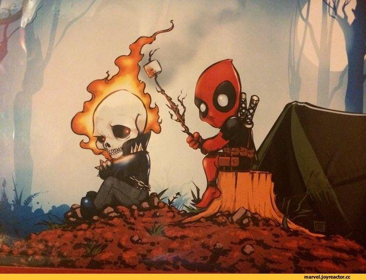 Marvel,фэндомы,Deadpool,Дэдпул, Уэйд Уилсон,Ghost Rider,Призрачный Гонщик