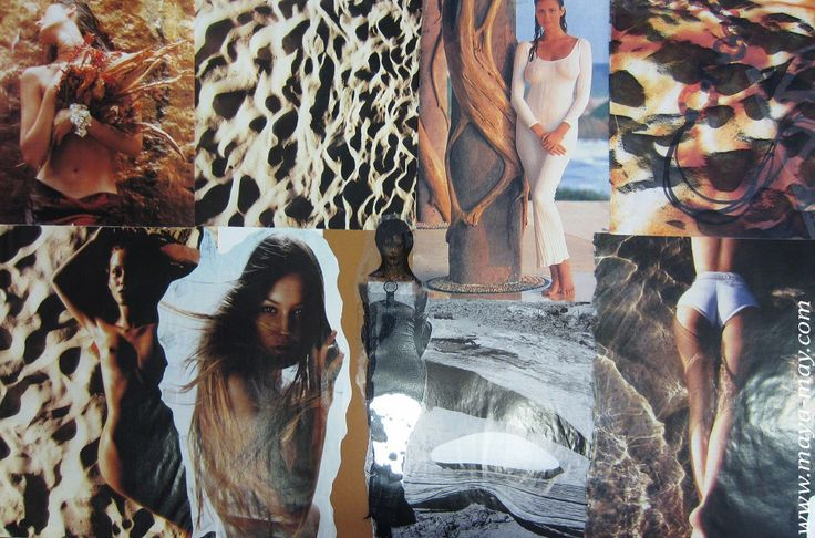 """Subterranean"" by Angela Kurnia. Inspiration board. Photos, paper & fabrics Collage. #fashion #inspirationboard #art #storyboard #trend #summer #desert #mud #nature #photography #collage #theme #concept #underground #womenswear"