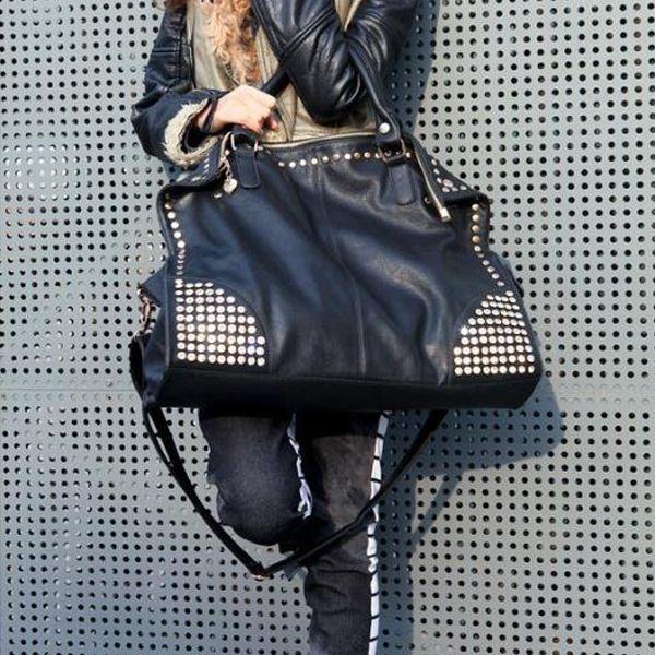 22/25 dollars Fashion Lady sac à bandoulière sac à main Faux en cuir bandoulière noir joyau de Rivet Punk dans Sacs Portés Epaule de Valises et sacs sur AliExpress.com   Alibaba Group