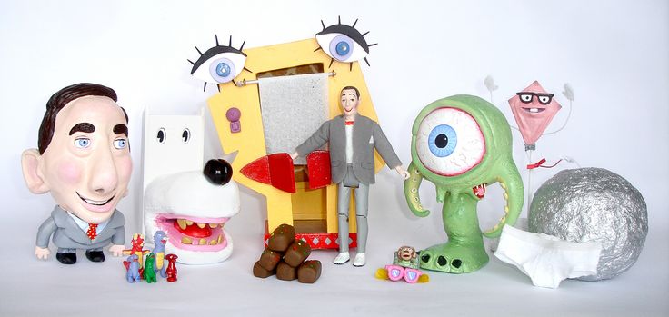 "https://flic.kr/p/7uPp9J | The Complete Pee-wee Expansion Pack! | Hi!  I'm Ben Zurawski and this is my ""Pee-wee's Playhouse Action Figure Expansion Pack""   It features most of the puppets and objects not included from the original Playhouse toy set, including:  Dog Chair, Picture Phone,Foil Ball, The Dinosaur Family, Mr.Kite, Door to Door Salesman, Magic Glasses, Giant Underpants, Roger the monster, and FRUITCAKE!!!  Each are handmade with polymer clay, wood, fabric, plenty of pain..."