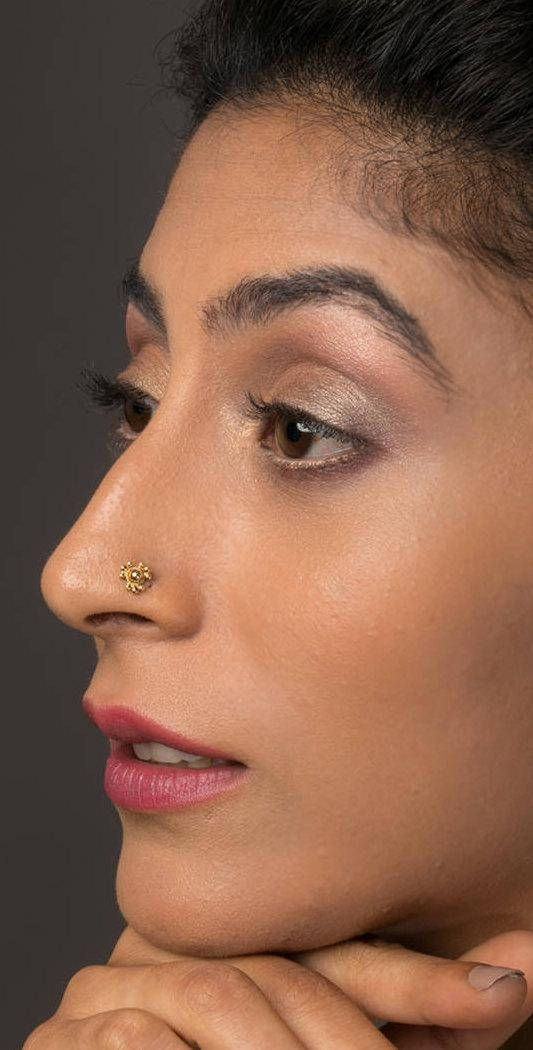 22K Gold Flower Nose Stud, Indian Nose Jewelry, Tribal Nose Stud, Gold Nose Screw, Nose Piercing  Whether worn as a fashion statement, a cultural tradition or a sign of rGold Nose Stud, Flower Nose Stud, Indian Nose Stud, Nose Screw, Cartilage Stud, Nose Ring Stud, Tribal Nose Jewelry, Nose Piercing, 24g #nosestud #handmade #handmadejewelry #etsyshop