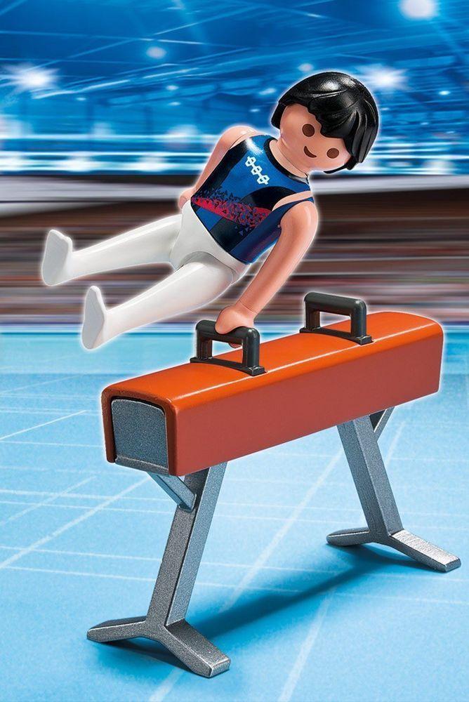 Gymnastics Olympic Gym  Pommel Horse Sport Action NEW Playmobil 5192 Boy Gymnist #Playmobil5192SportsAction