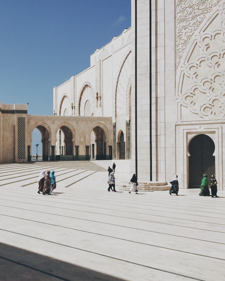 Pilgrims at the Hassan II Mosque, Casablanca, Morocco