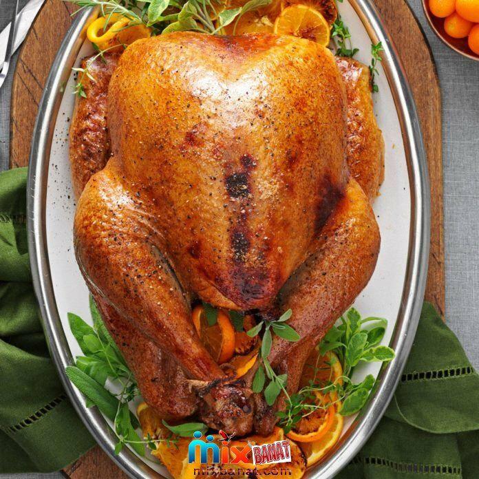 طريقة عمل البط بالعسل وصوص البرتقال Thanksgiving Recipes Side Dishes Thanksgiving Recipes Roasted Turkey