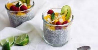 chia seed pudding ή πουτίγκα με σπόρους chia