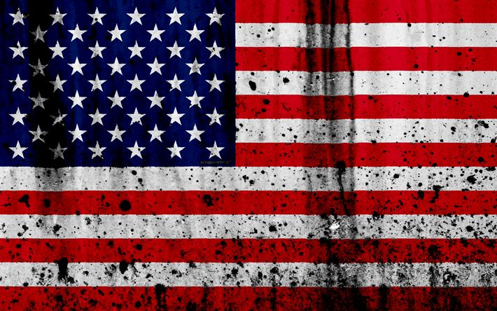 Download wallpapers American flag, 4k, grunge, flag of USA, North America, US flag, USA, America, national symbols, flag of America, USA national flag