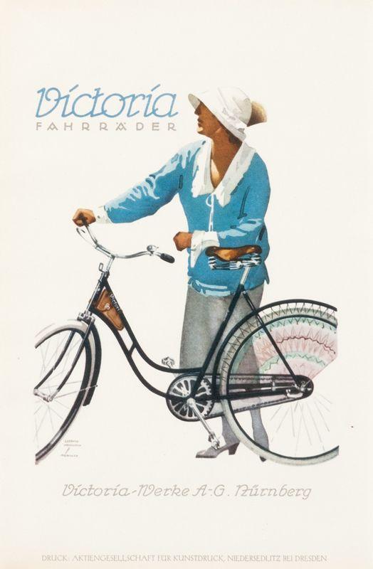 Victoria Fahrrader by Hohlwein, Ludwig |Shop original vintage Plakatstil #posters online: www.internationalposter.com