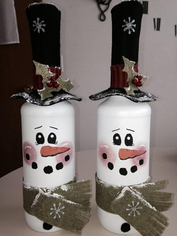 how to make christmas decorations inside a bottle