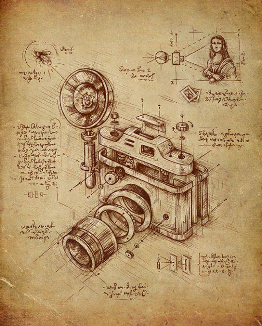 Si Léonard De Vinci avait inventé lappareil photo appareil photo de vinci