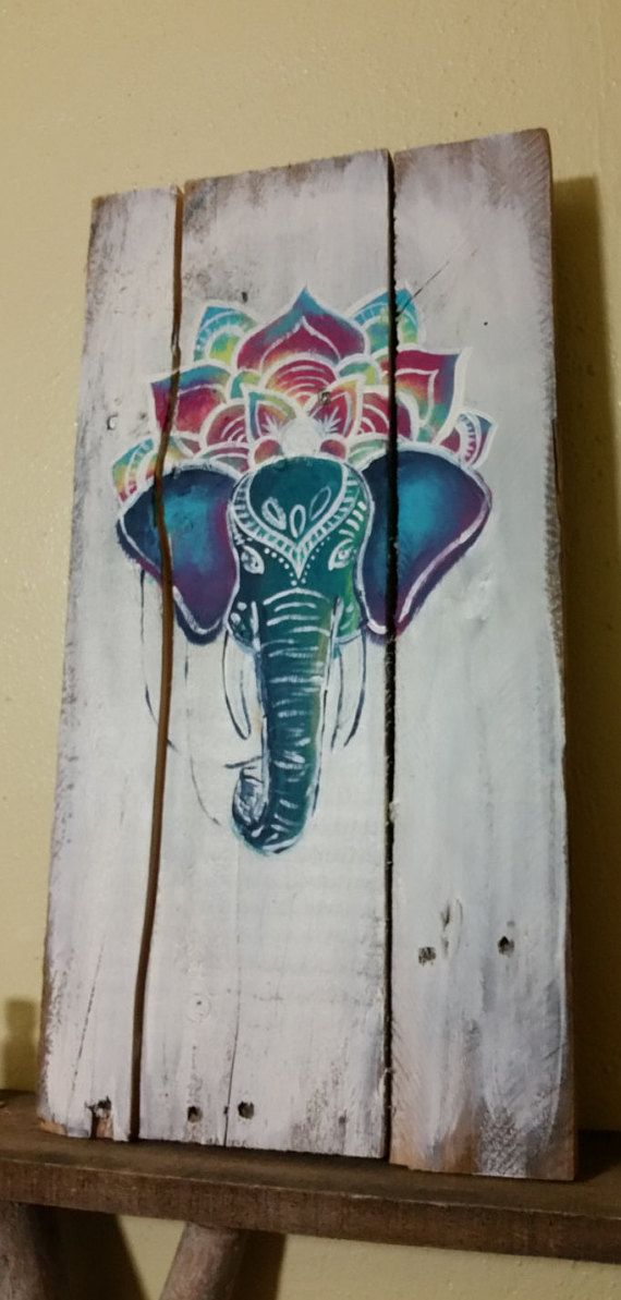 Check out this item in my Etsy shop https://www.etsy.com/listing/294261739/tye-dyed-elephant-painting-boho-art