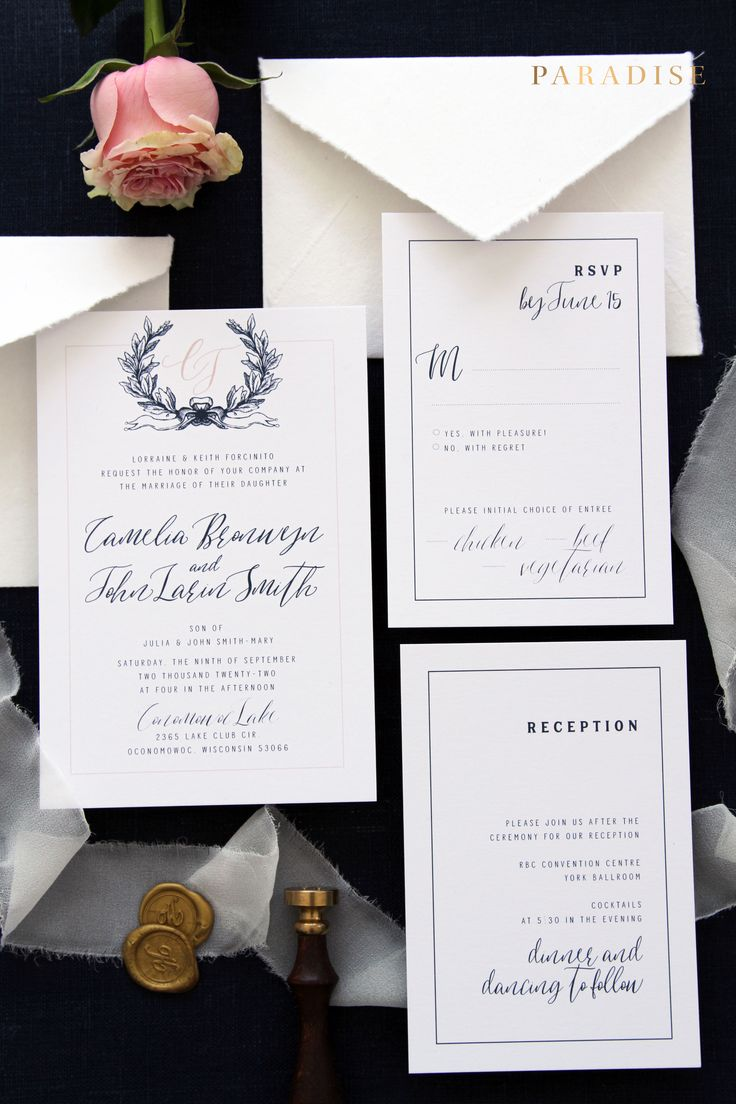wedding invitations templates uk%0A Camelia Navy and Blush Wedding Invitation Sets  Invitation Set Templates or  Printed Invitation Sets