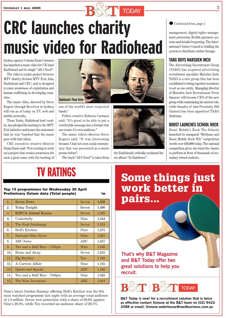 An article on our Radiohead & MTV EXIT work.