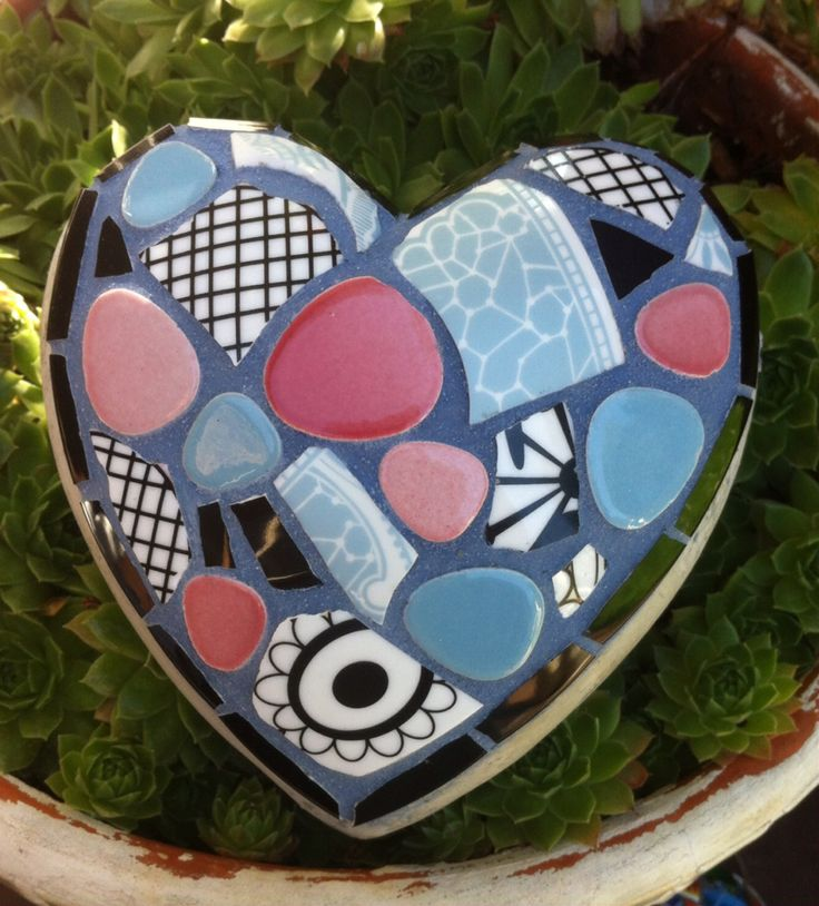 Mosaic Garden Heart by Fickle Nellie.