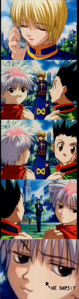 hahahaha killua :') Kurapika & LEORIO