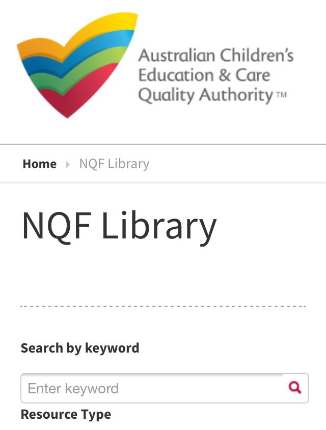 Search through the ACECQA NQF Library at http://pin.it/EdVZgeb for NQF related forms, templates, information sheets and articles.