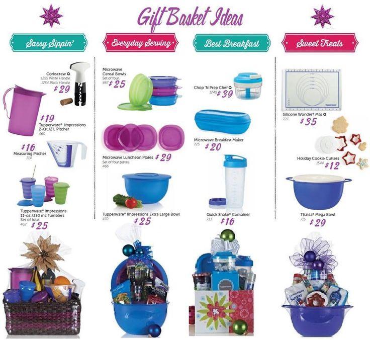 Tupperware Gift Basket Ideas