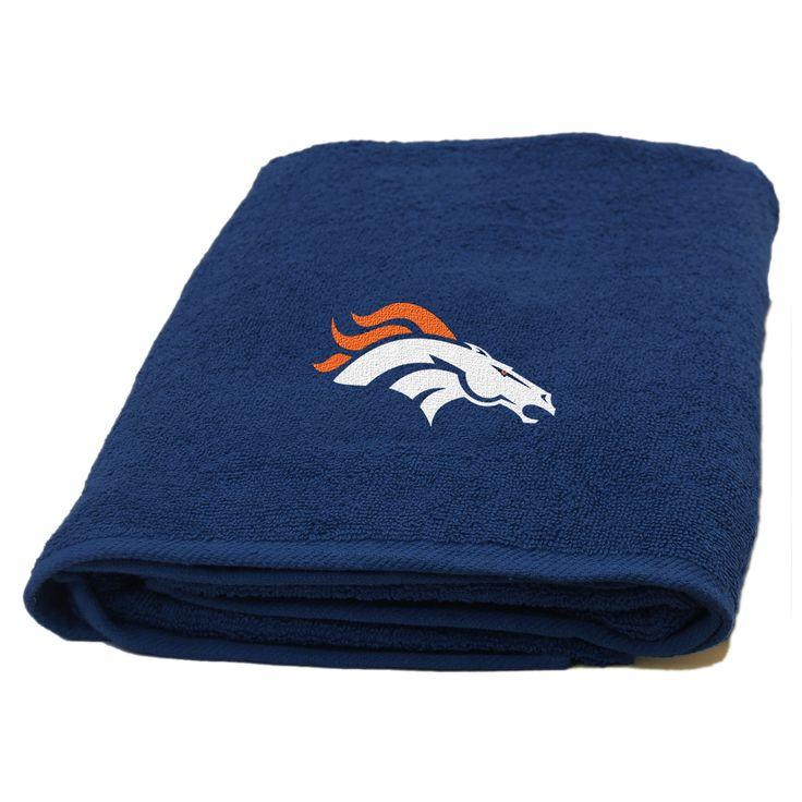 NFL Broncos Applique Beach Towel