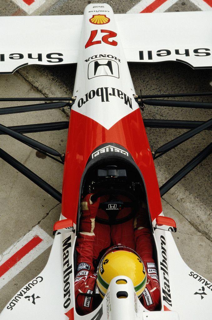 Ready to take off Ayrton Senna - Spanish GP 1990