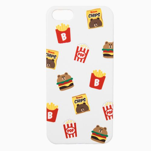 Line Friends White Brown iPhone 6/6s Plus Apple Hard Case Skin Cover Patterned #NaverLineFriends