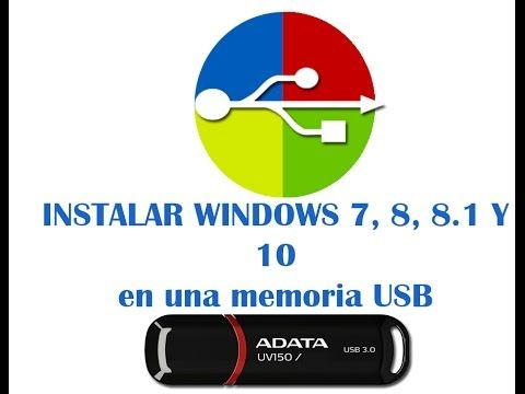 instalar sistema operativo de windows en una USB - YouTube