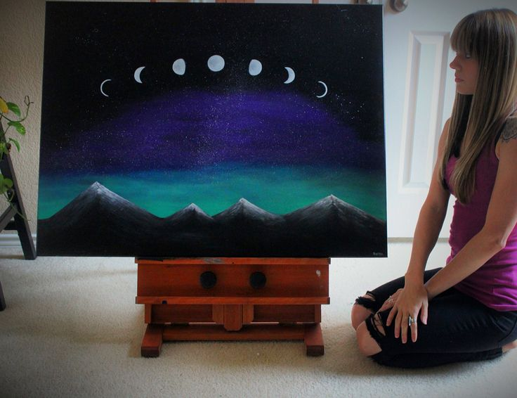 Moon phases painting by Raesha