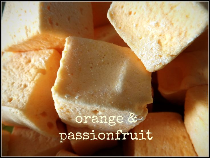 orange &passionfruit handmade marshmallows from Mallow Mia