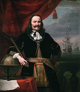 Michiel Adriaenszoon de Ruyter (Vlissingen, 24th of March 1607 - Bay of Syracuse, 29th April 1676) was a famous  Dutch admiral.