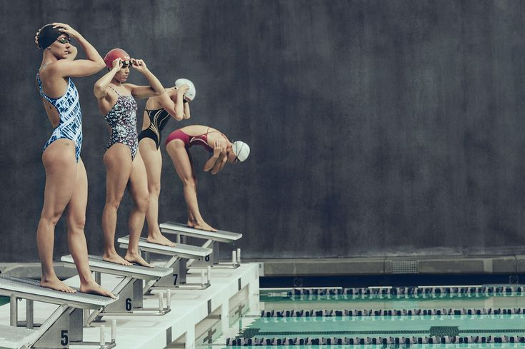 Team Speedo getting ready in these lightweight, quick drying stylish suits.